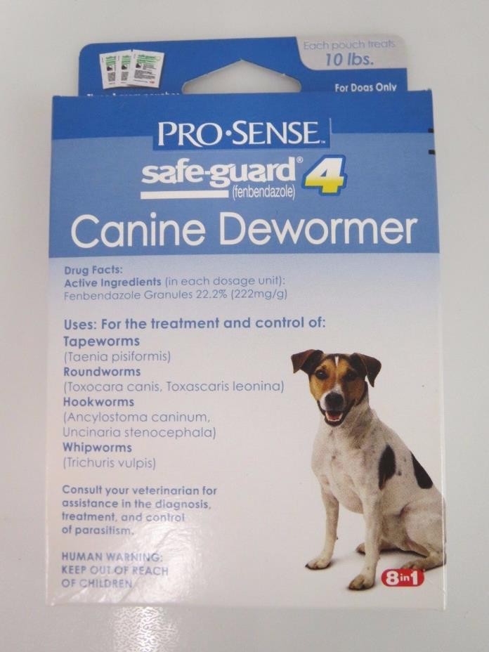 ProSense SAFE-GUARD 4 Canine 1-Gram POUCHES Dewormer