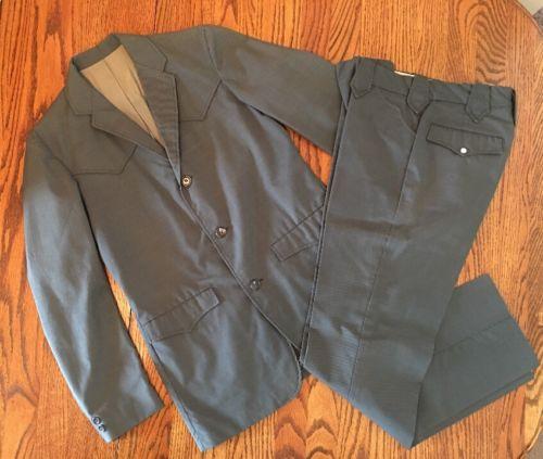 Vtg Men's Mesquite Niver Western Wear Gray Blue  Suit Rockabilly Size Jacket 36