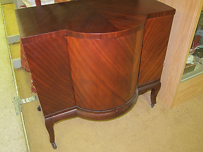 Antique Mahogany Deco Bar