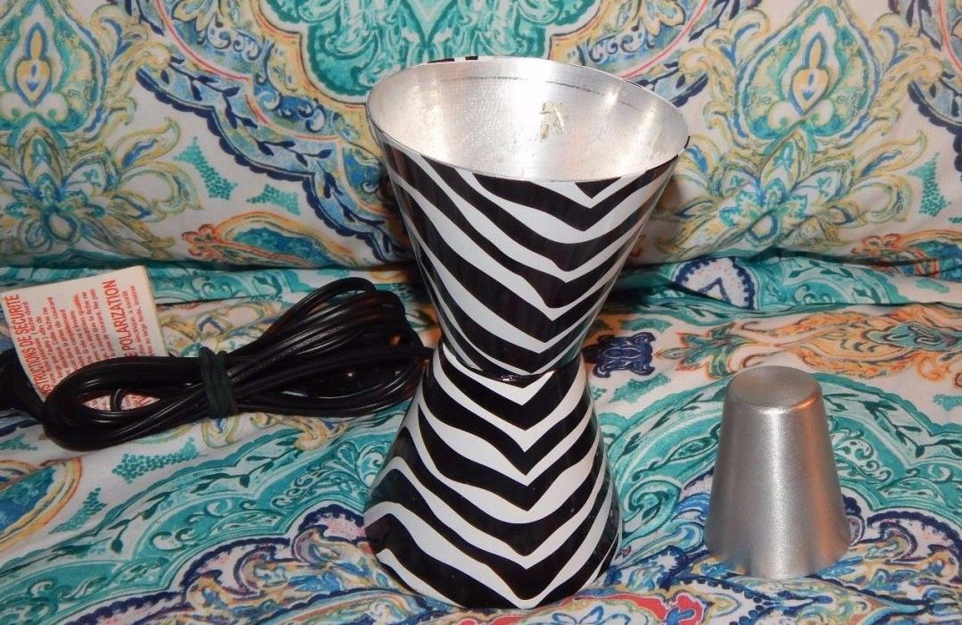 ZEBRA PRINT LAVA LAMP BASE & TOP MOTION LIGHT LAMP REPLACEMENT 6