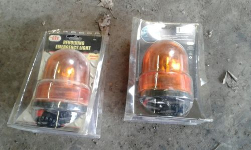 12V YELLOW AMBER ROTATING BEACON EMERGENCY MAGNETIC VEHICLE LIGHT LAMP 12VOLT