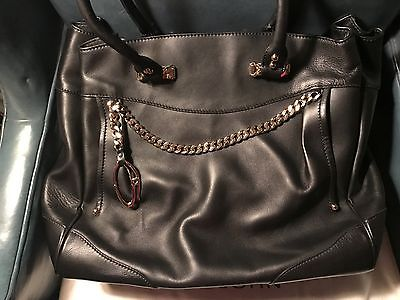 NWTag ST JOHN KNIT BLACK W GOLD X Large Purse Satchel Tote Handbag $1185 LUXURY