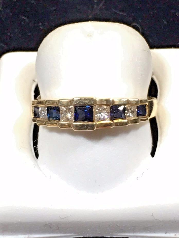 Ladies Sapphire + Diamond Ring