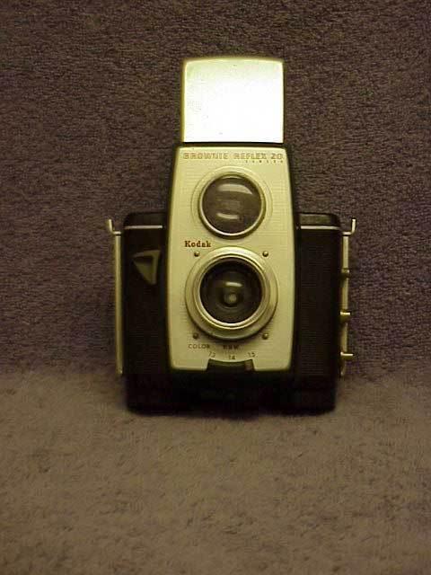 Vintage Camera 1950s Kodak Brownie Reflex 20 Film Old Photography Free Ship