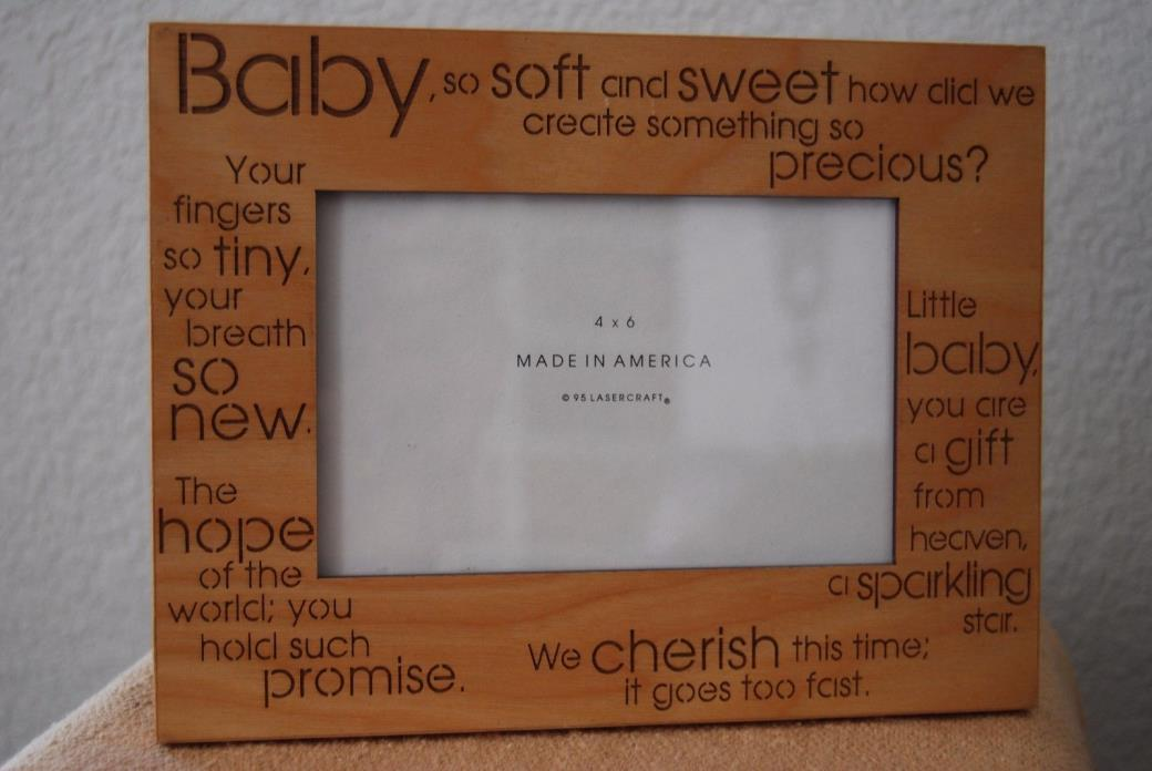 Wood Photo Frame for Baby   S15