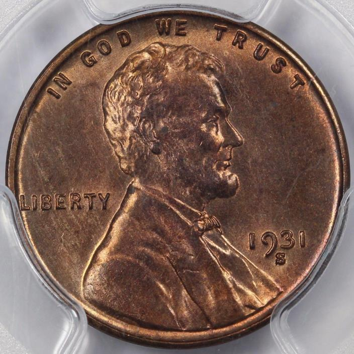 1931-S 1C Lincoln Cent PCGS MS 64 RB