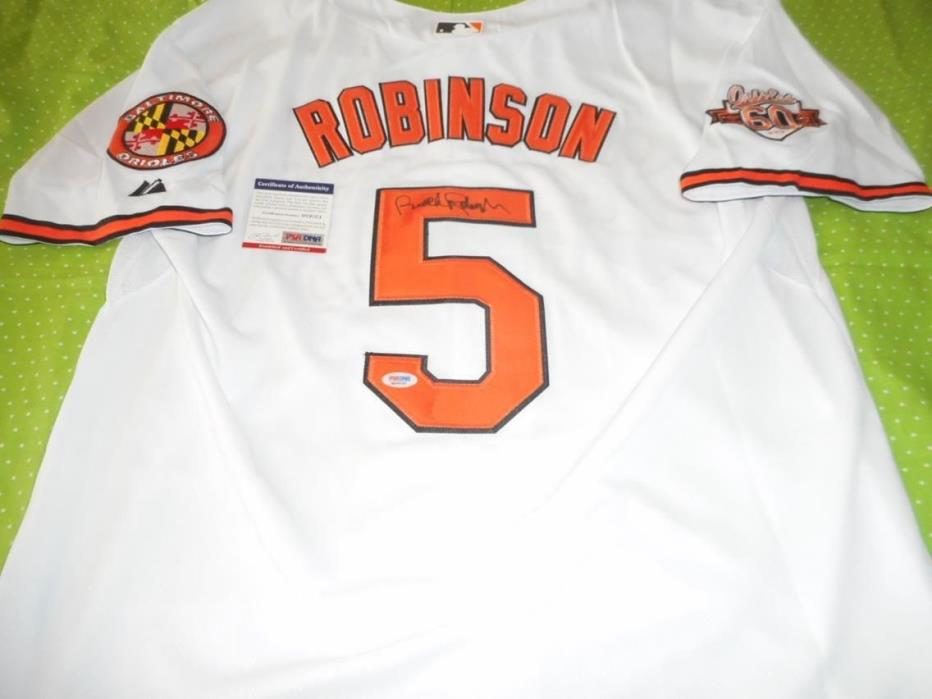 Autographed Orioles Brooks Robinson Throwback Signed MLB Baseball Jersey COA PSA