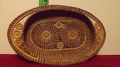 indian style Handicraft weave small basket/tray/unique  /Arizona