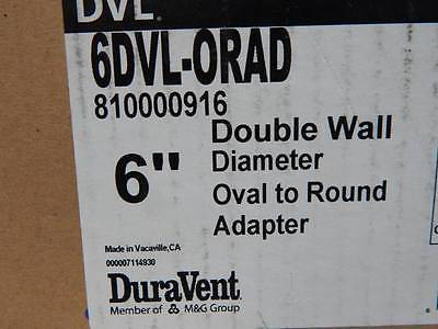 DVL  Double-Wall Stove Pipe Oval To Round Adapter Available In 6