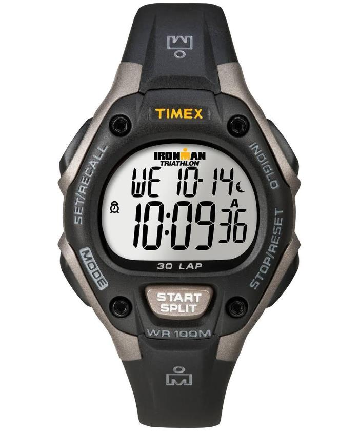 Timex Training Watch Ironman Mens Classic 30 Mid Size 30 Lap Memory Black