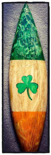 Surfboard-The Irish Surfboard-surfing wall Decor-Irish Flag Decor