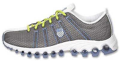 K-SWISS 92457-038 SPEEDSTER TBS TRNR WMN's (M) Charcoal/Lime Mesh Running Shoes