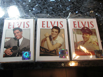 Lot of 3 Elvis Presley Blank Note Cards Guitar Military MGM 10 Each w Envelopes