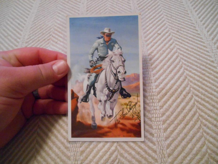 Vintage 1951 General Mills Lone Ranger Picture Coloring Contest Entry Postcard