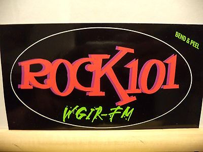 Radio Station Promotional Sticker for ROCK101 WGIR-FM-NEW ENGLAND ROCK AND ROLL