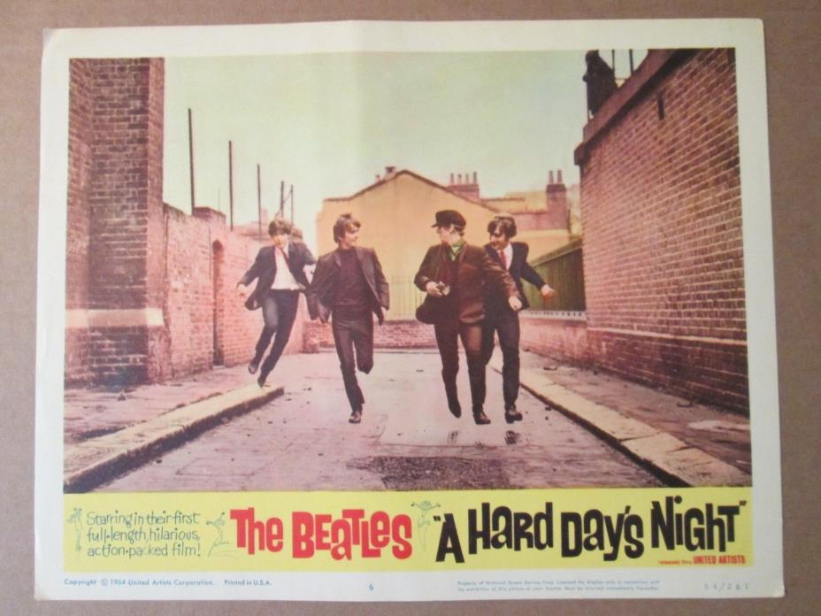 A Hard Day`s Night     -  Original  Lobby Card  - The Beatles