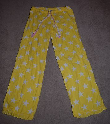PINK by Victoria's Secret 100% Cotton Lounge/PJ Pants Size Small, Yellow/White