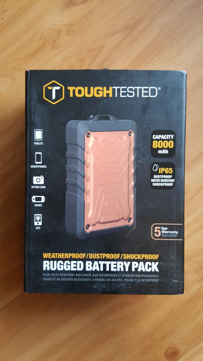 ToughTested Power Bank USB 8000 mAh Outdoor Camping Weather Travel Battery Pack
