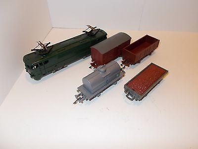 Vintage antique ho train windup set