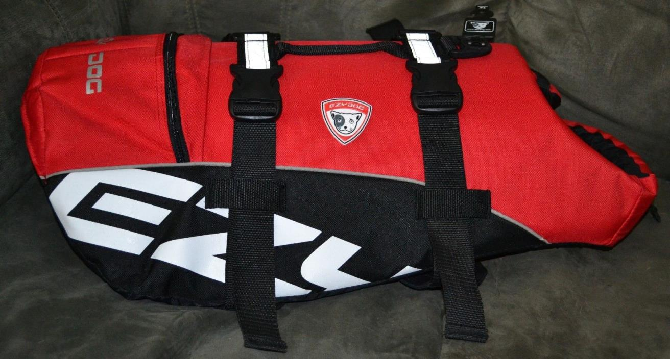 EzyDog Doggy Flotation Device Dog Life Vest Jacket DFD Extra Large, Red NWT