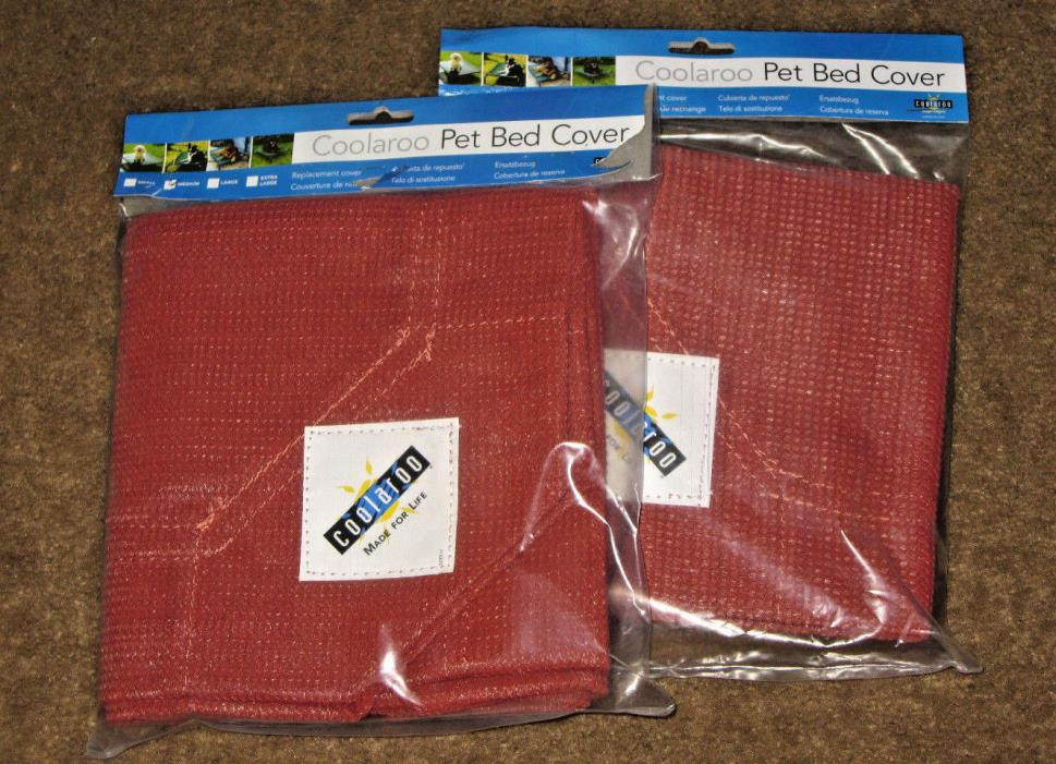 TWO~Coolaroo~Pet Bed Covers~Terra Cotta~Medium~Replacement Cover~NEW