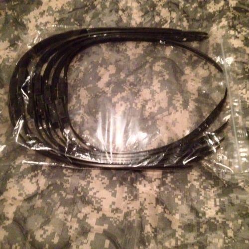 Safariland Flex Restraints Double Cuff Disposable Handcuffs Black 10-Pack
