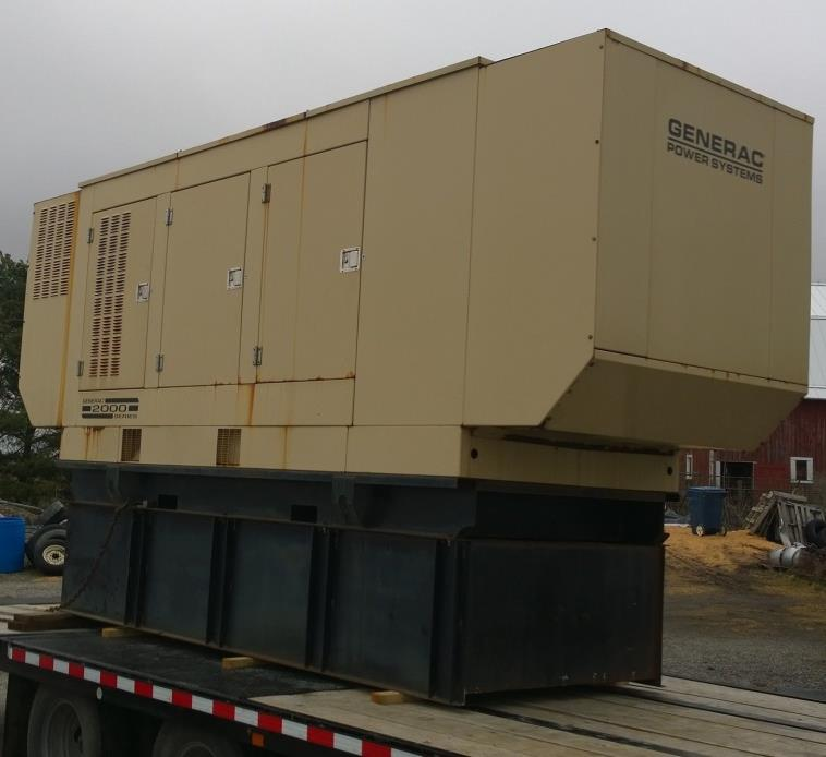 500KVA 400KW 200 HOURS diesel generator,400 gallon fuel tank ,6Year load tested