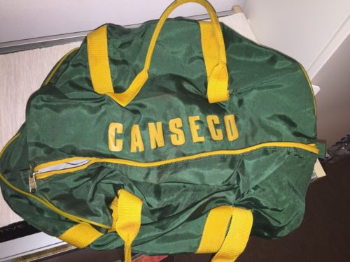 1st Issued Rookie GAME USED Jose Canseco Oakland A's Equipment Team Travel Bag
