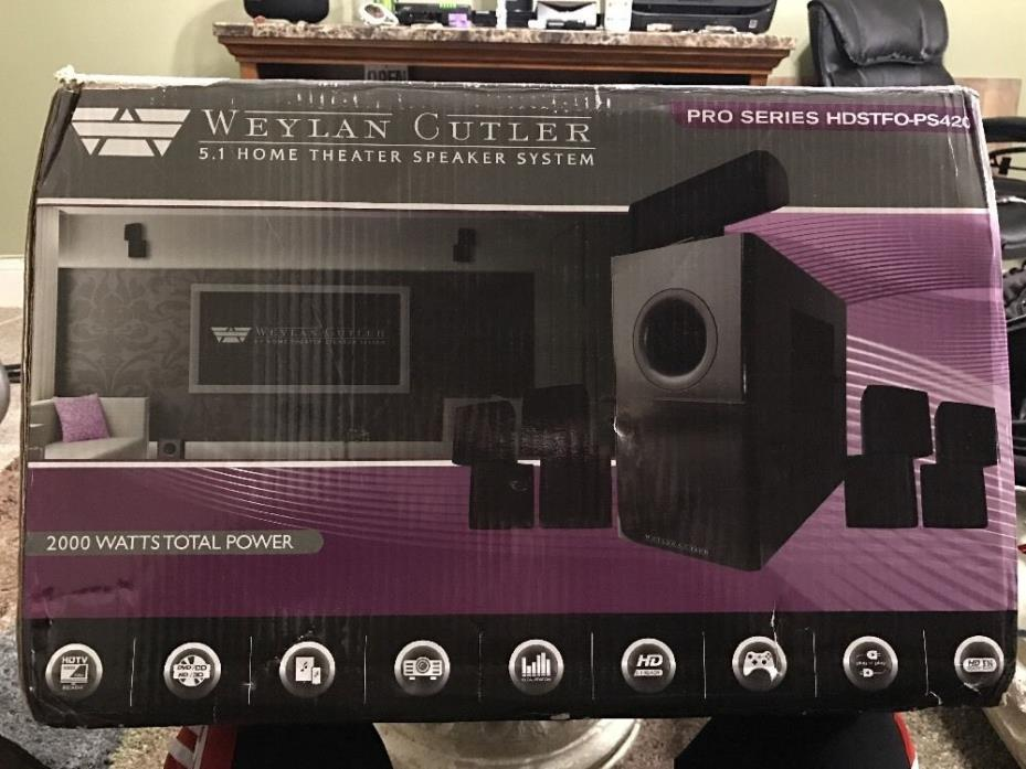 Surround Sound Home Theater System Weylan Cutler speakers