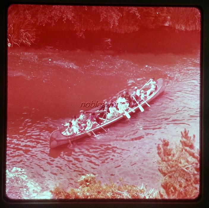 1960s Disneyland Indian Canoe Ride at Frontierland 1 Color Slide