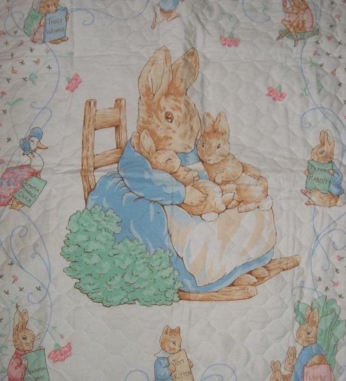 PETER RABBIT Baby Crib Blanket Reversible 46 x 37 Crib Blanket Comforter