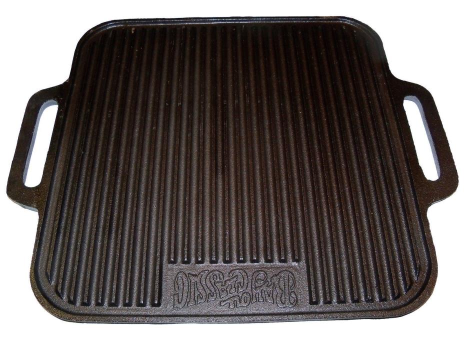 Square 14 Inch  Pre-seasoned Cast-Iron Reversible Grill/Griddle
