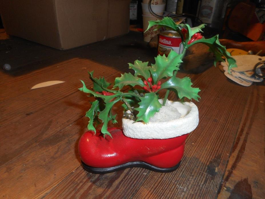 Vintage Santa Boot Decoration