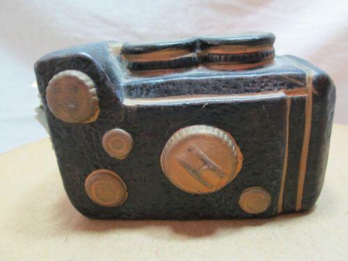 Decorative Vintage Ceramic Old Fashioned Camera Sculpture Figurine Replica