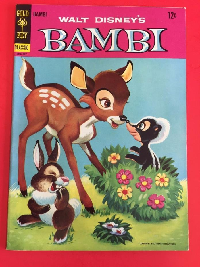GOLD KEY COMICS - BAMBI # 2   - DISNEY  MOVIE  1966  - HIGH GRADE