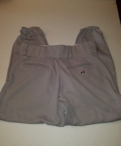 Alleson Athletic Belted Waist Baseball Pant XL Gray New w/o tags