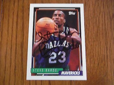 Steve Bardo Autographed 1992 Topps Dallas Mavericks
