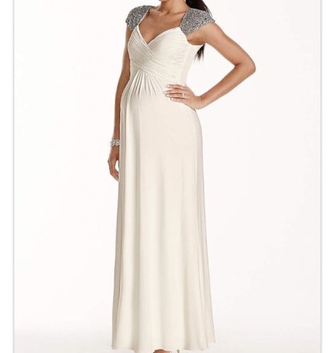 Ivory Jersey Maternity Wedding Dress