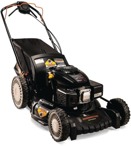 Gas Lawn Mower High Rear Wheel 4-Speed RWD Self-Propelled Cutting Deck New
