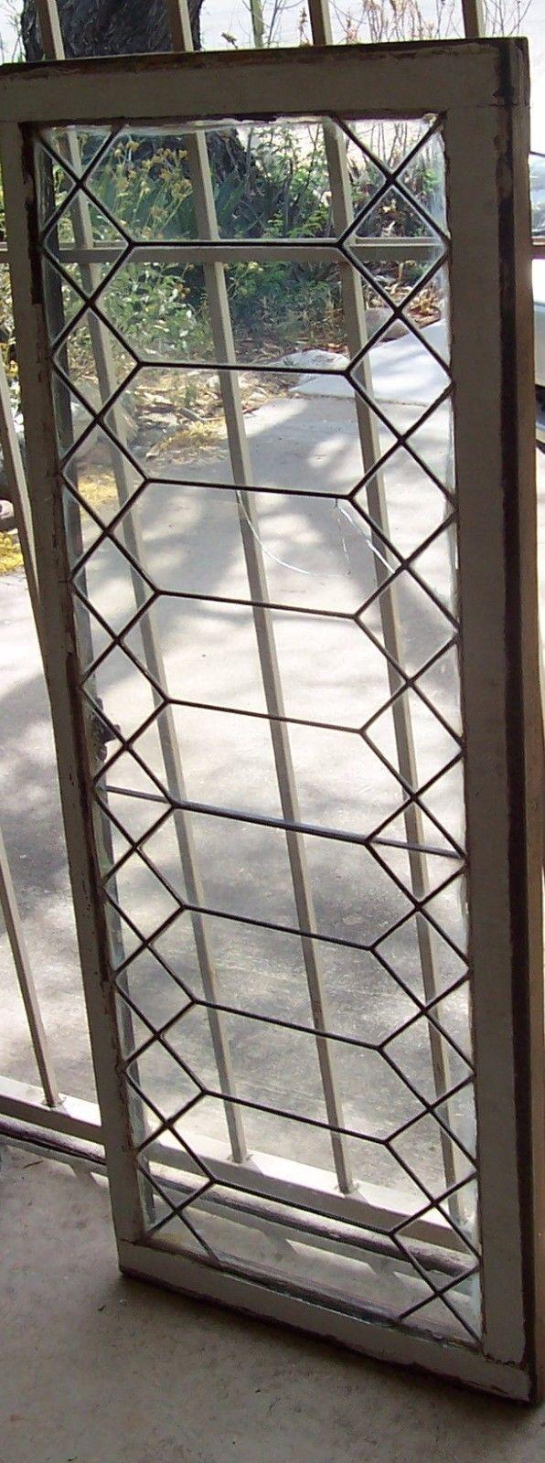 OLD LEAD GLASS WINDOW IN DIAMOND PATTERN