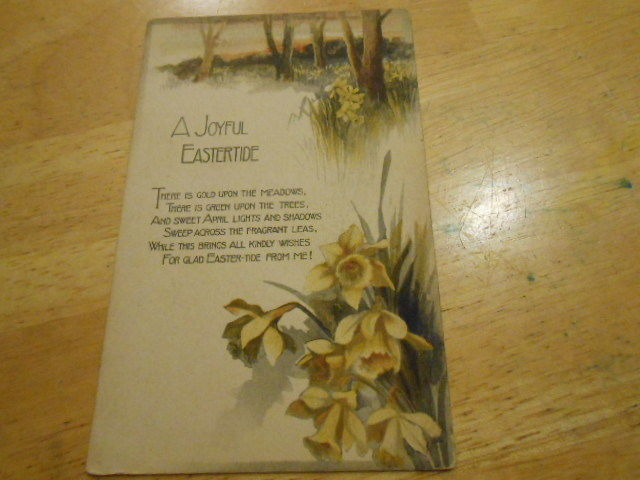 Antique Eary 1900s Easter Postcard
