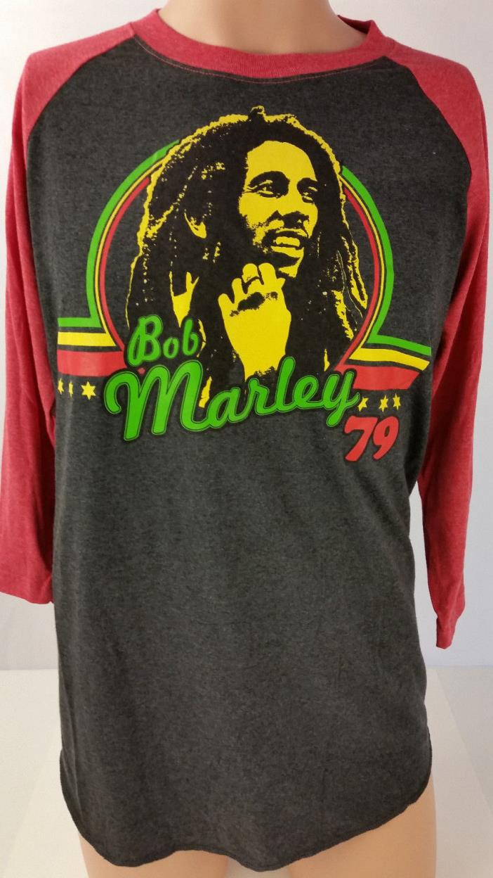 New Men's T-shirt Long Sleeve Bob Marley '79 Zion Size Medium