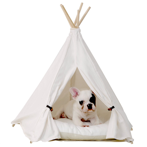 little dove Pet Teepee Dog & Cat Bed - Portable Dog Tents & Pet Houses for Small