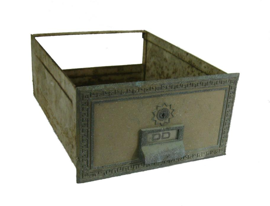 Vintage Metal Post Office Box Drawer
