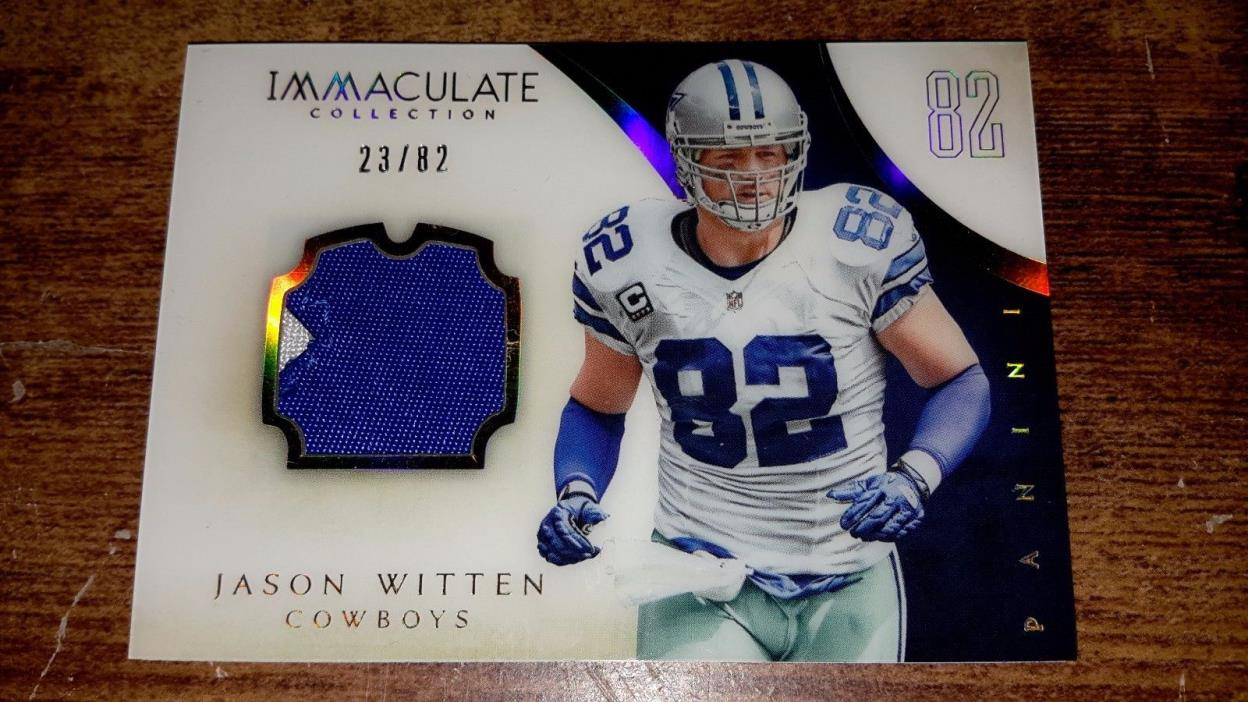 Jason Witten 2014 Panini Immaculate game used jersey patch card