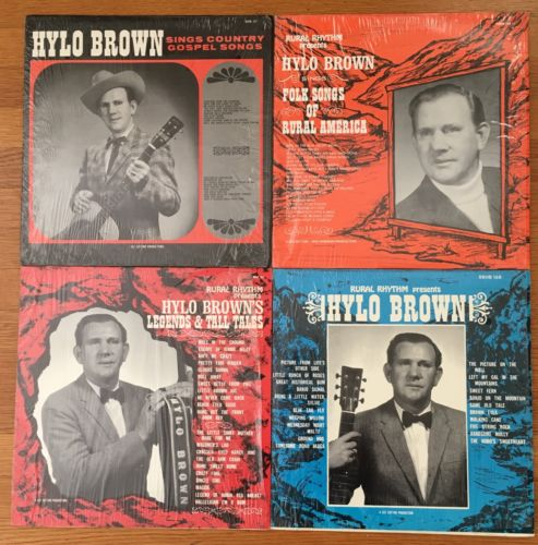 Hylo Brown 4 Vinyl LP Bluegrass Lot In Shrink Folk Gospel Country Rural Rhythm