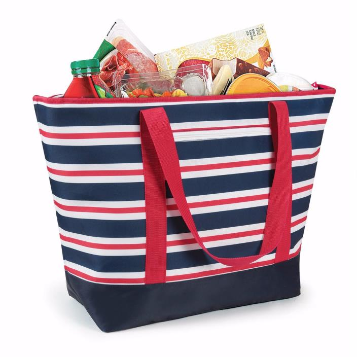 California Innovations 12 Gallon Insulated Mega Tote Cooler Bag Multi Striped