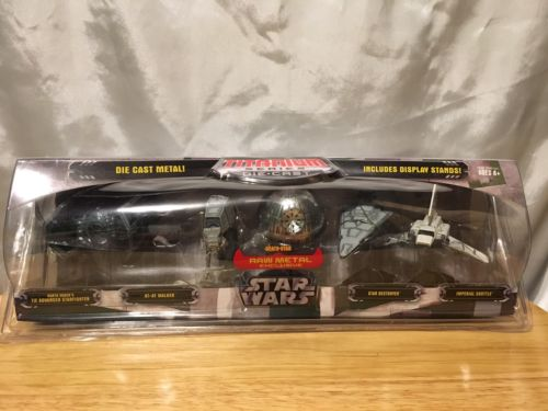 Star Wars Exclusive Titanium Series Die Cast Metal 5 Pack with Exclusive Raw