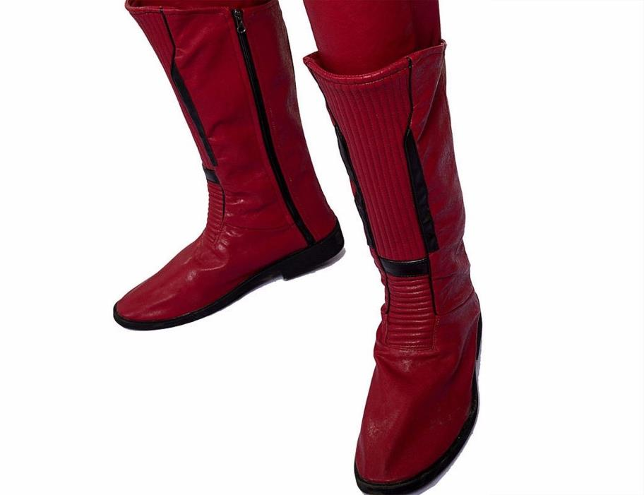 CW Kid Flash Wally West Cosplay Boots - Costume Footwear Shoes