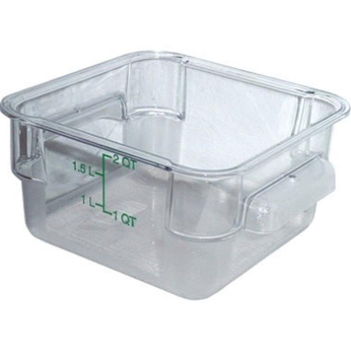 Cambro - 2SFSCW135 - 2 qt CamSquare Food Storage Container